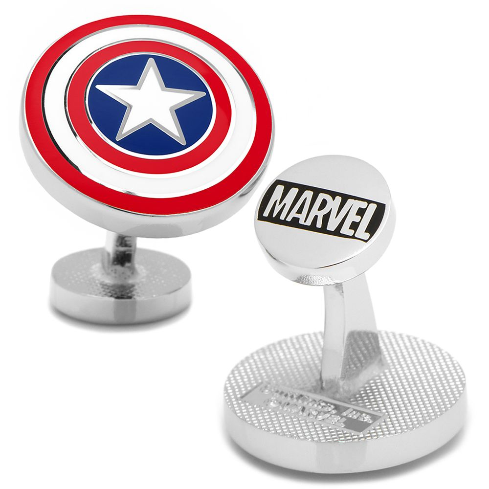 Captain America Color Shield Cufflinks