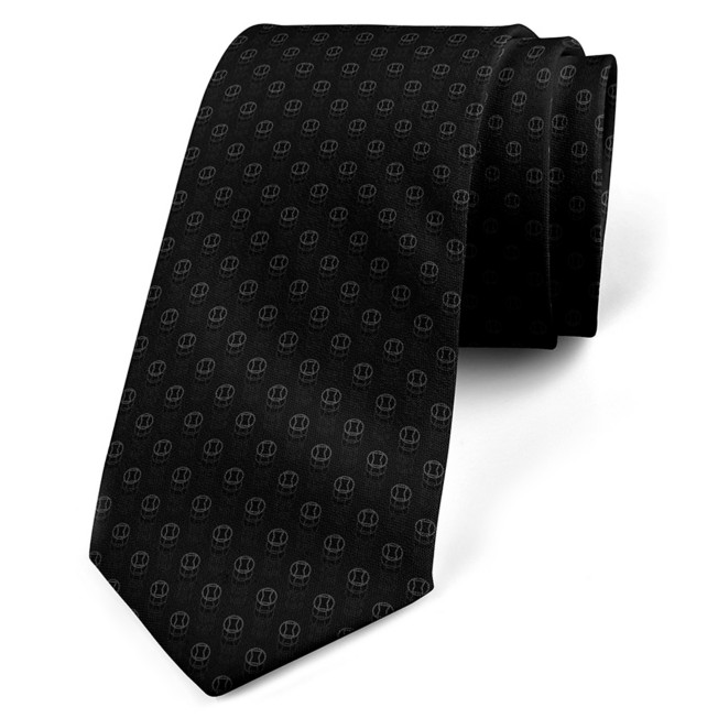 Black Widow Silk Tie for Adults