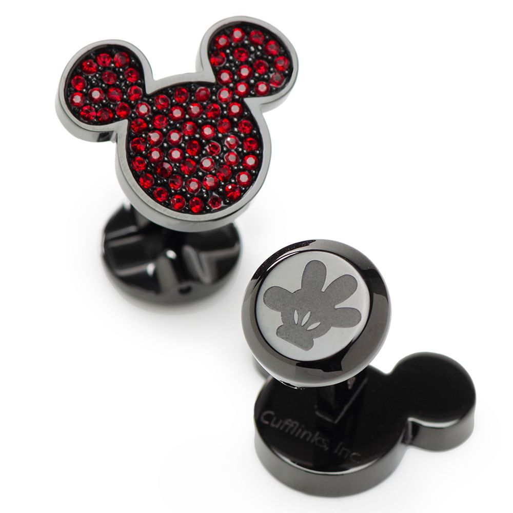 Mickey Mouse Icon Pave Crystal Cufflinks
