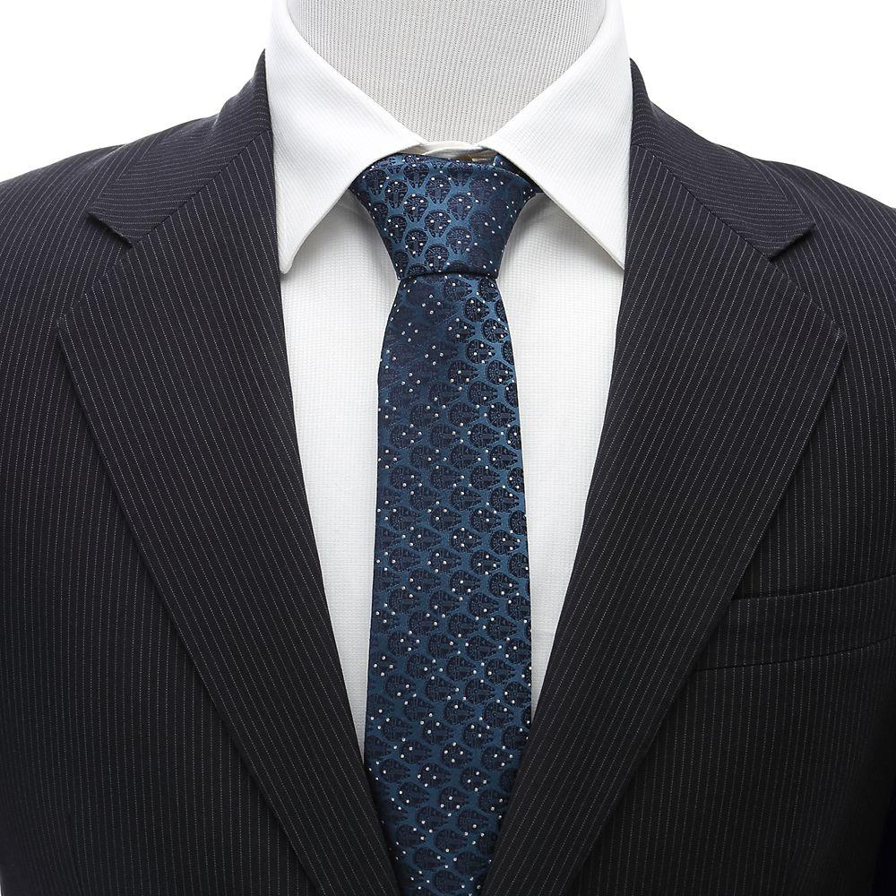 Millennium Falcon Dot Blue Silk Tie for Adults – Star Wars