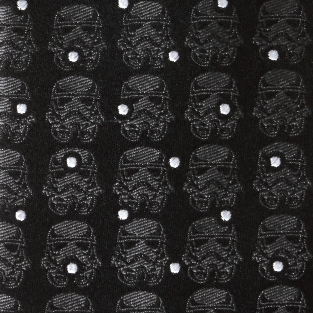 Stormtrooper Black Dot Silk Tie for Adults – Star Wars