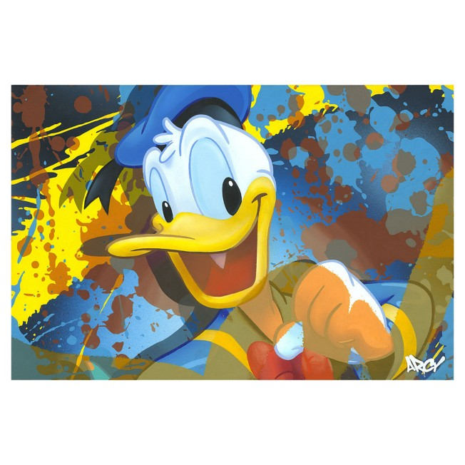 ''Donald Duck'' Giclee on Canvas by ARCY – Limited Edition