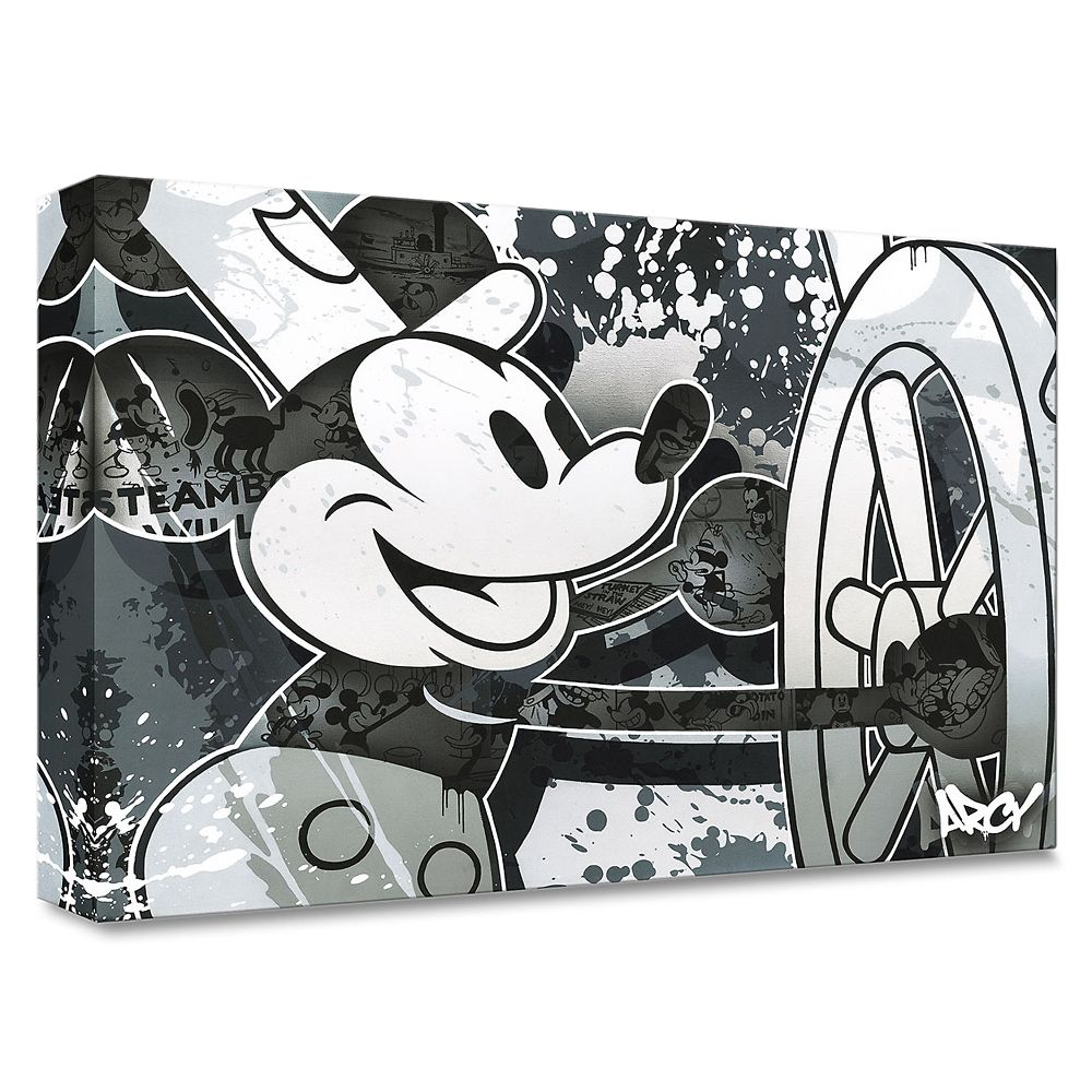 ''Steamboat Willie'' Giclee on Canvas by ARCY – Limited Edition