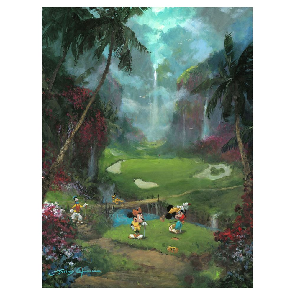 Mickey Mouse and Friends ''17th Tee in Paradise'' Giclee on Canvas by James Coleman – Limited Edition