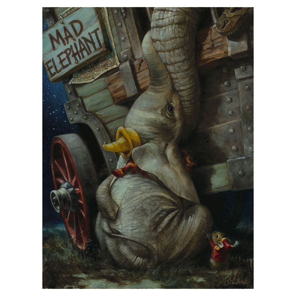 Dumbo ''Baby of Mine'' Giclee on Canvas by Heather Edwards – Limited Edition