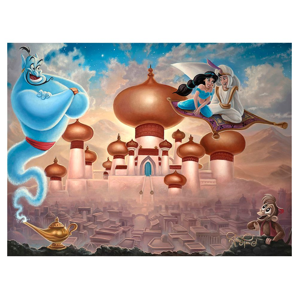 Aladdin ''A Whole New World'' Giclee on Canvas by Jared Franco – Limited Edition