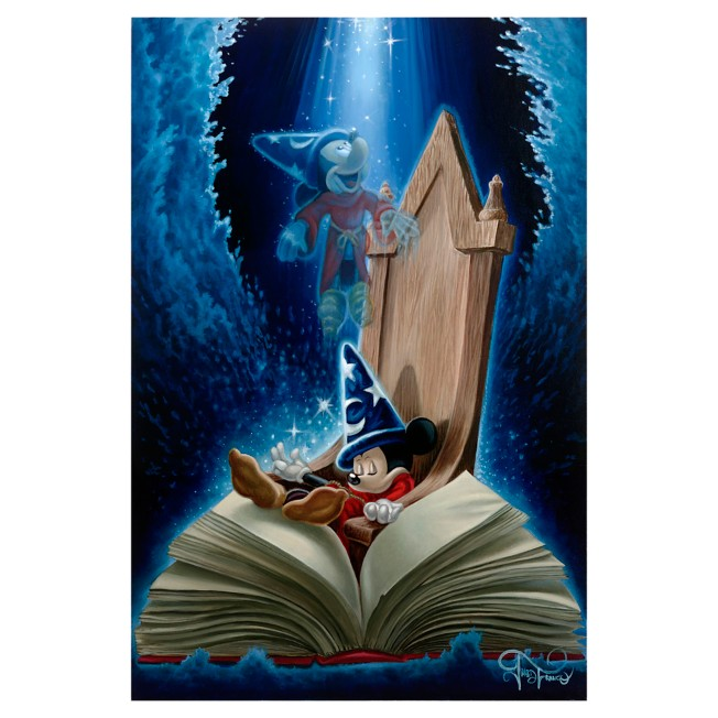 Sorcerer Mickey Mouse ''Dreaming of Sorcery'' Giclee on Canvas by Jared Franco – Limited Edition
