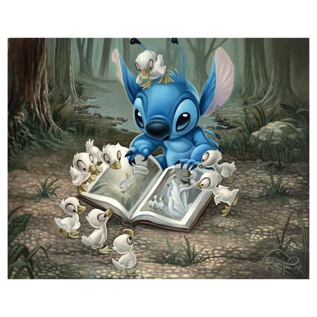 Lilo & Stitch ''Friends of a Feather'' Giclee on Canvas by Jared Franco – Limited Edition
