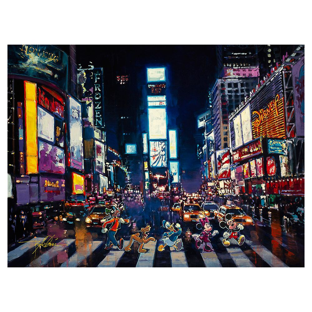 ''Bright Lights of Manhattan'' Gallery Wrapped Canvas by Rodel Gonzalez – Limited Edition