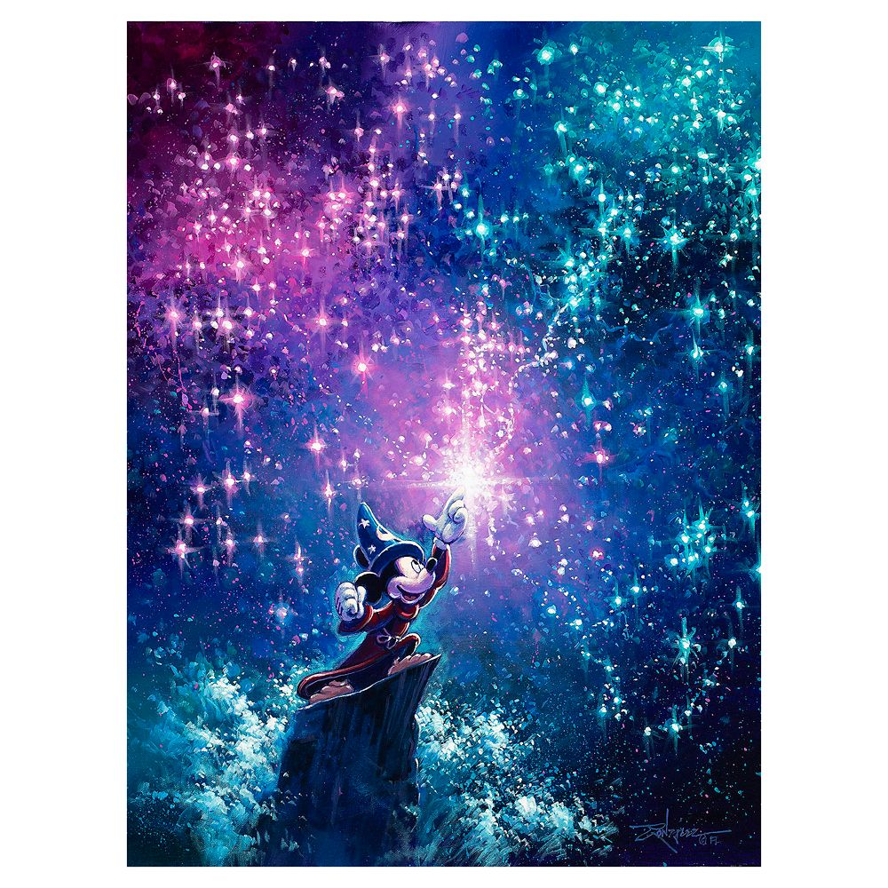 ''Sorcerer Mickey'' Gallery Wrapped Canvas by Rodel Gonzalez – Limited Edition