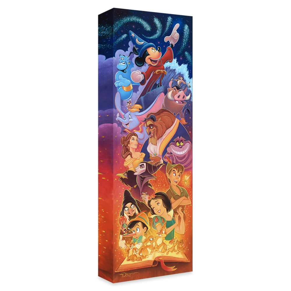 ''Magical Storybook'' Gallery Wrapped Canvas by Tim Rogerson – Limited Edition