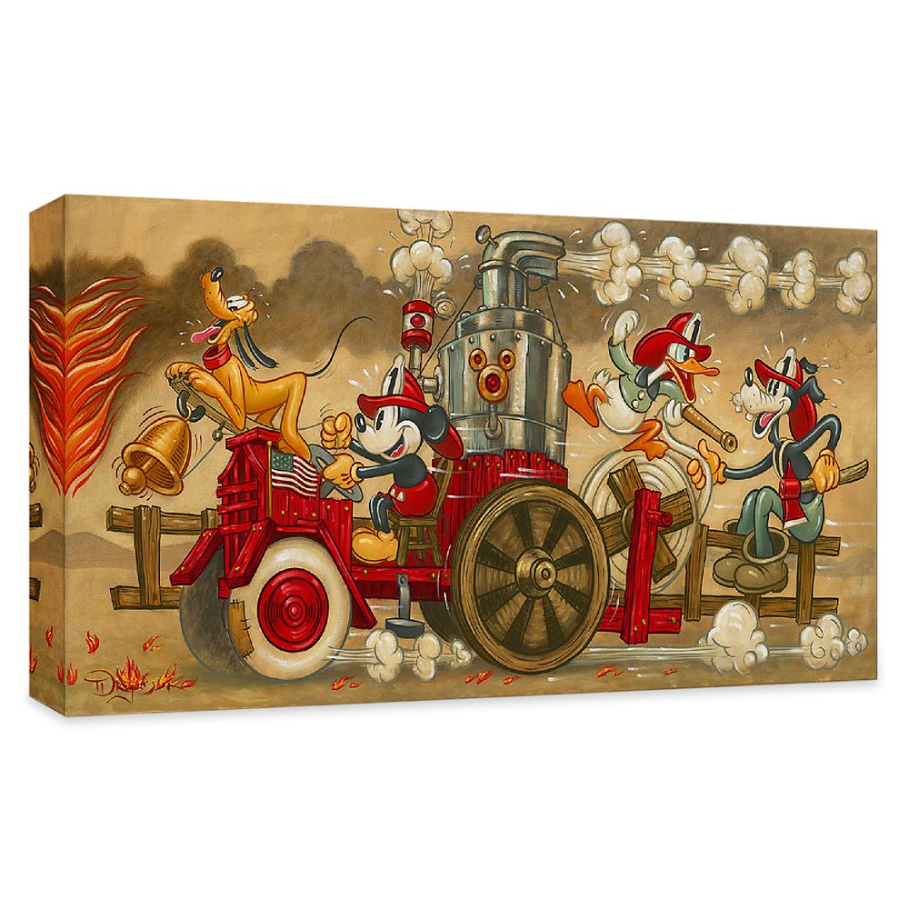 ''Mickey's Fire Brigade'' Gallery Wrapped Canvas by Tim Rogerson – Limited Edition