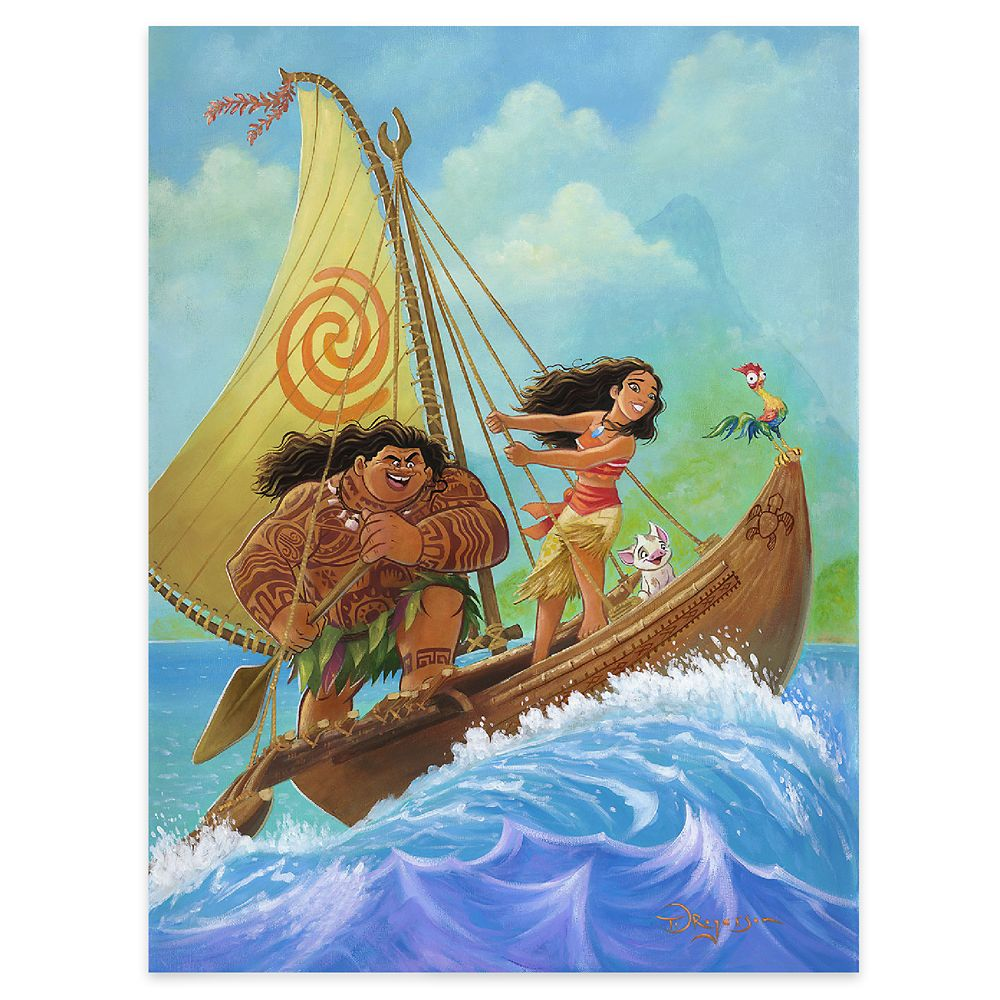 ''Moana Knows the Way'' Gallery Wrapped Canvas by Tim Rogerson – Limited Edition