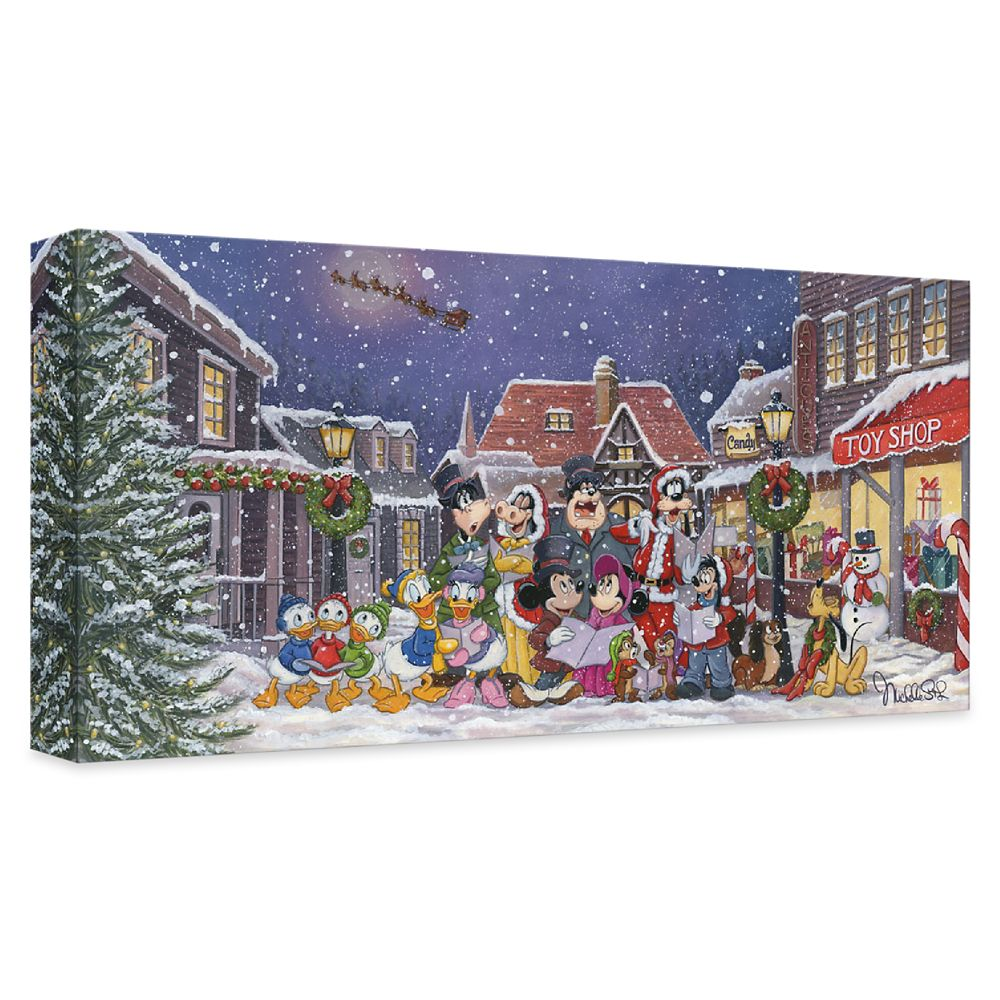 ''A Snowy Christmas Carol'' Gallery Wrapped Canvas by Michelle St.Laurent – Limited Edition