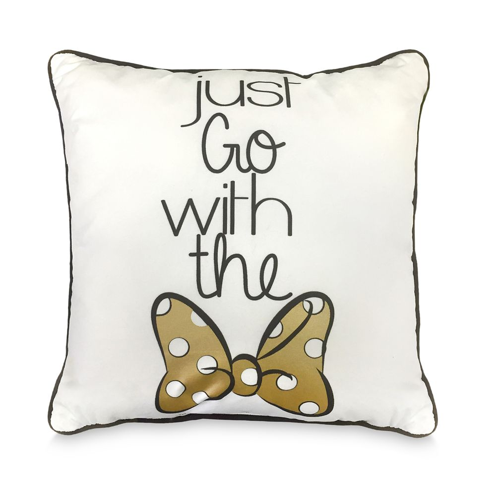 Minnie Mouse Bow Decorative Pillow Official shopDisney