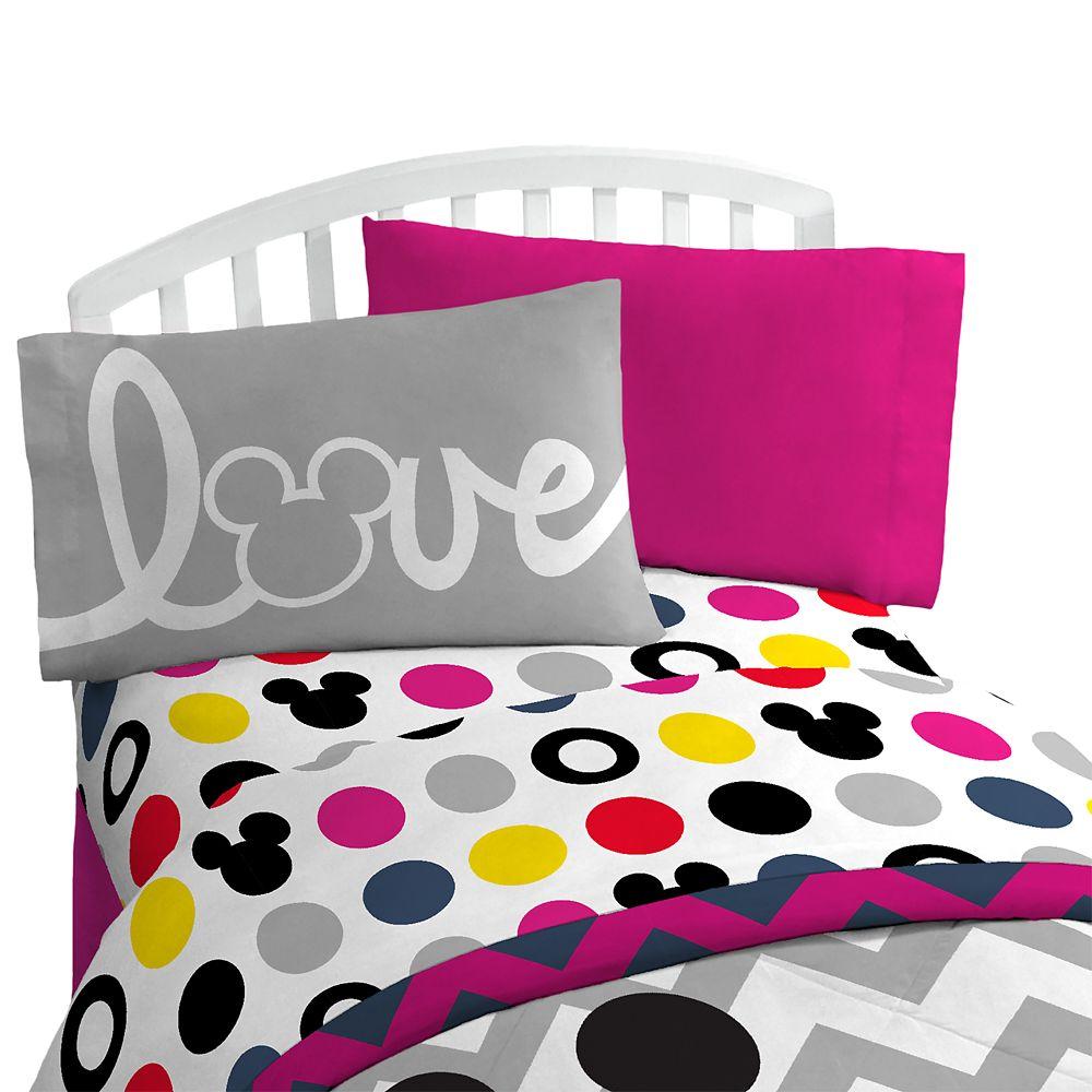 Mickey Mouse Polka Dot Sheet Set – Twin/Full