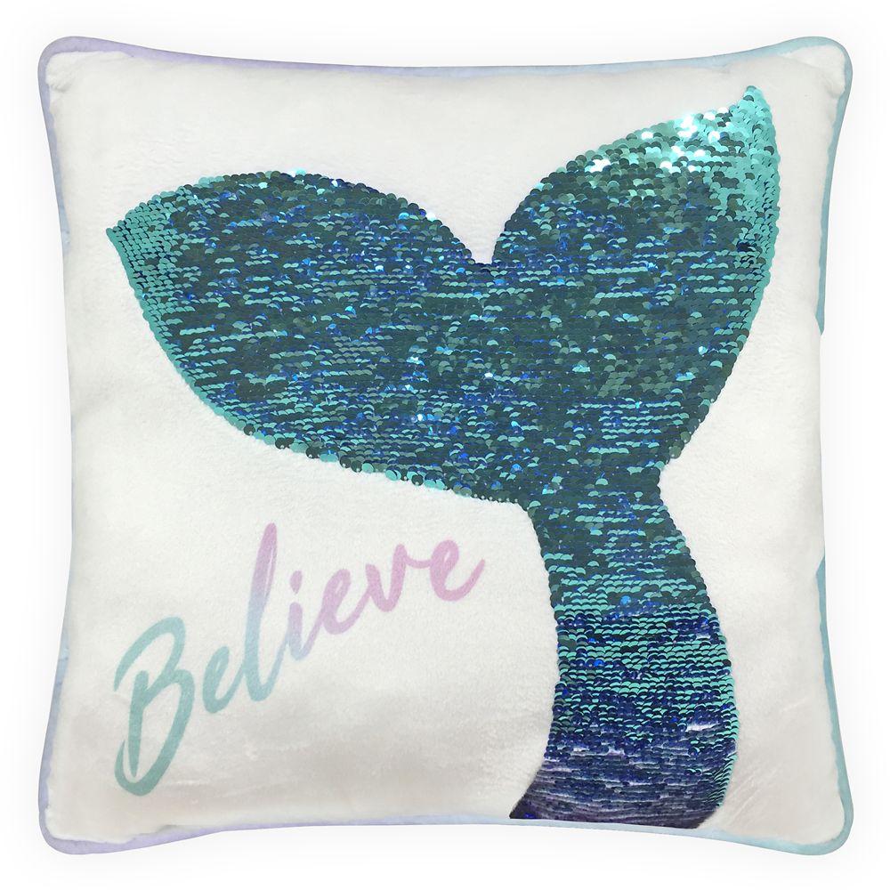 The Little Mermaid Reversible Sequin Pillow Official shopDisney
