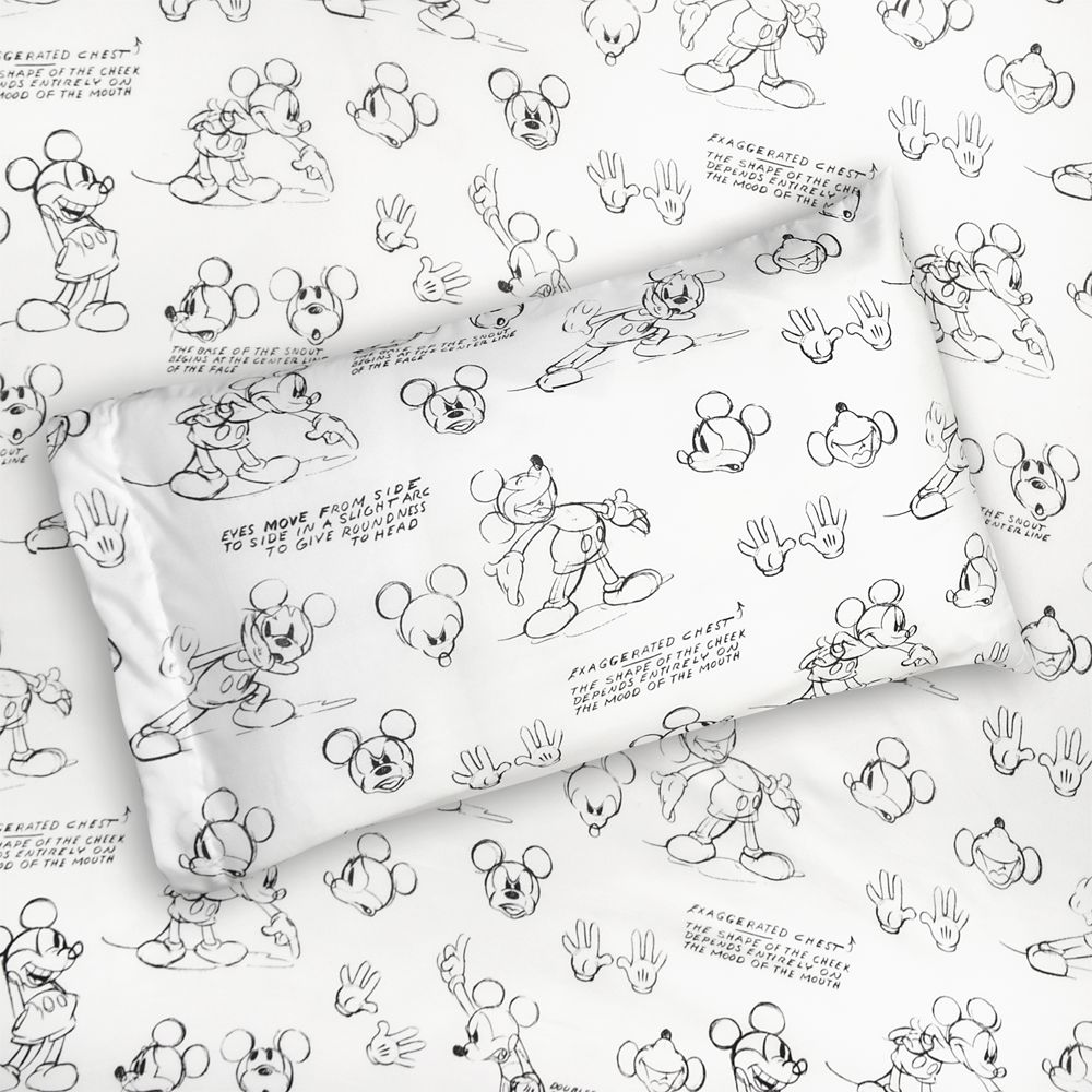 Mickey Mouse Sketch Art Sheet Set  Twin / Full / Queen Official shopDisney