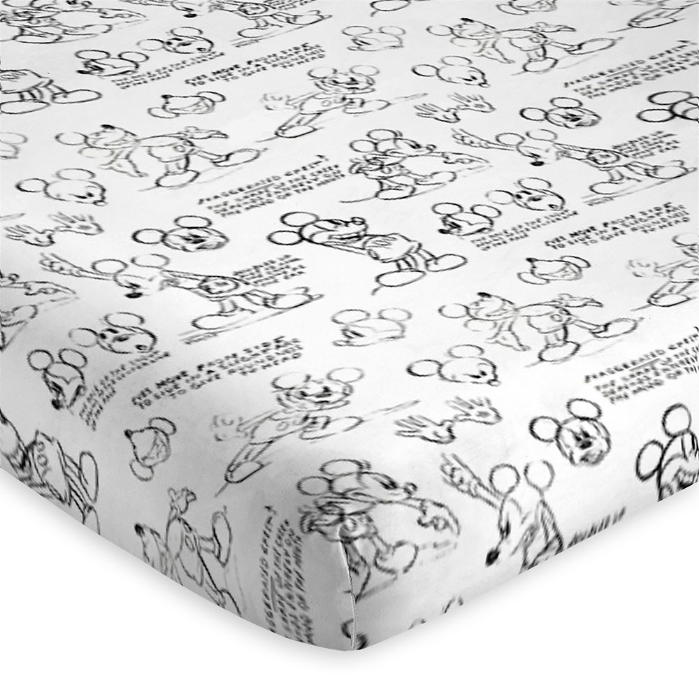 Mickey Mouse Sketch Art Sheet Set – Twin / Full / Queen