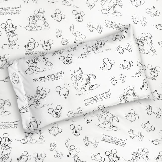 Mickey Mouse Sketch Art Sheet Set – Twin / Full / Queen