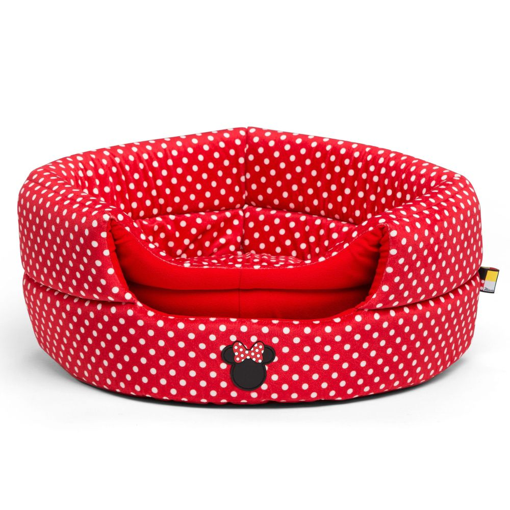 Minnie Mouse Honeycomb Hut Pet Bed – Red – Standard