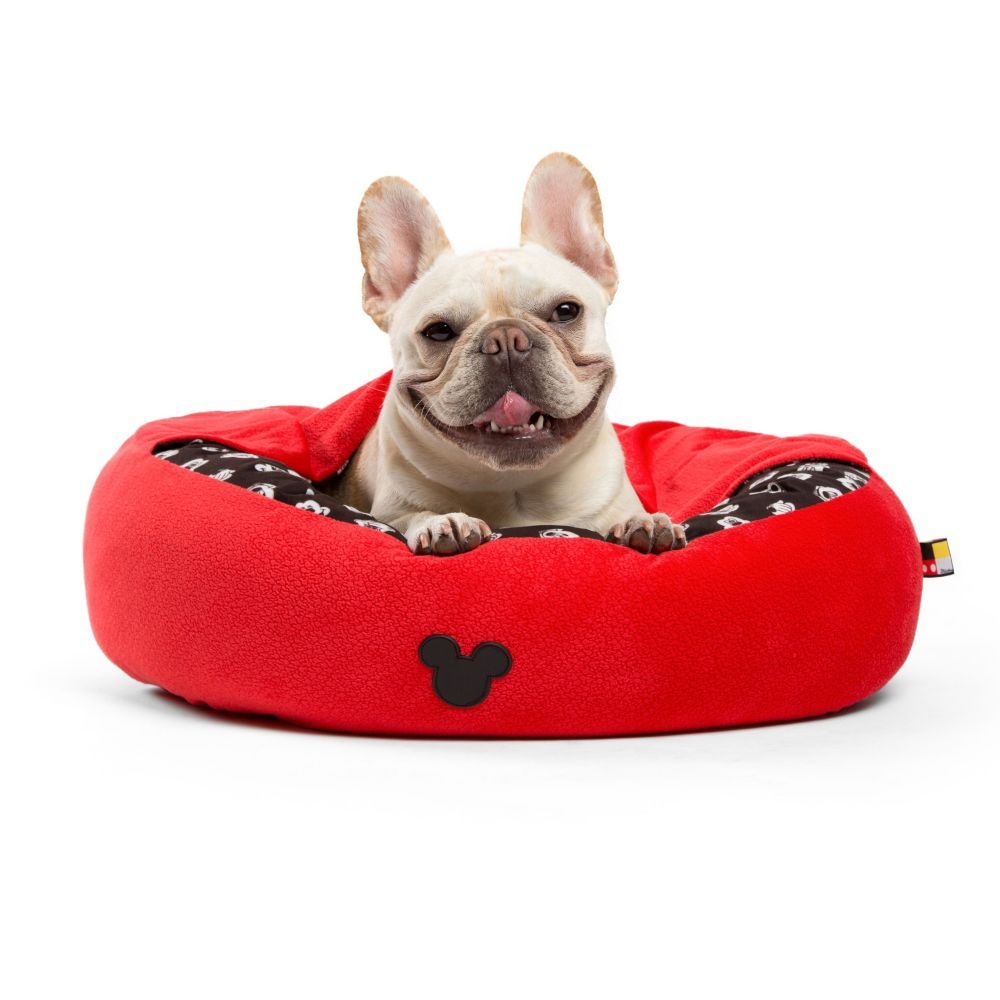 Mickey Mouse Cozy Cuddler Pet Bed – Red – Small