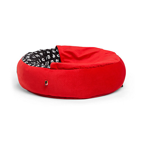 Mickey Mouse Cozy Cuddler Pet Bed - Red - Small