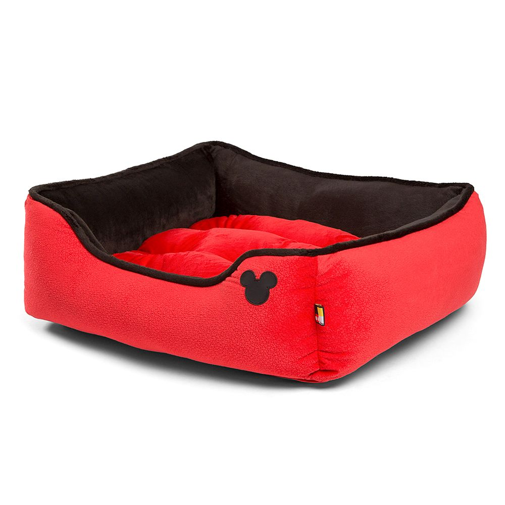 Mickey Mouse Rectangular Cuddler Pet Bed – Red
