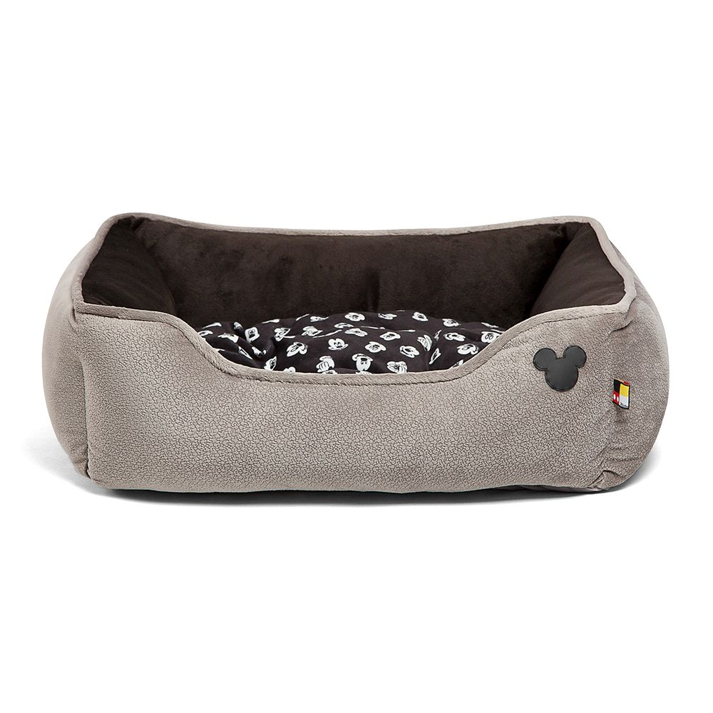 Mickey Mouse Rectangular Cuddler Pet Bed – Gray
