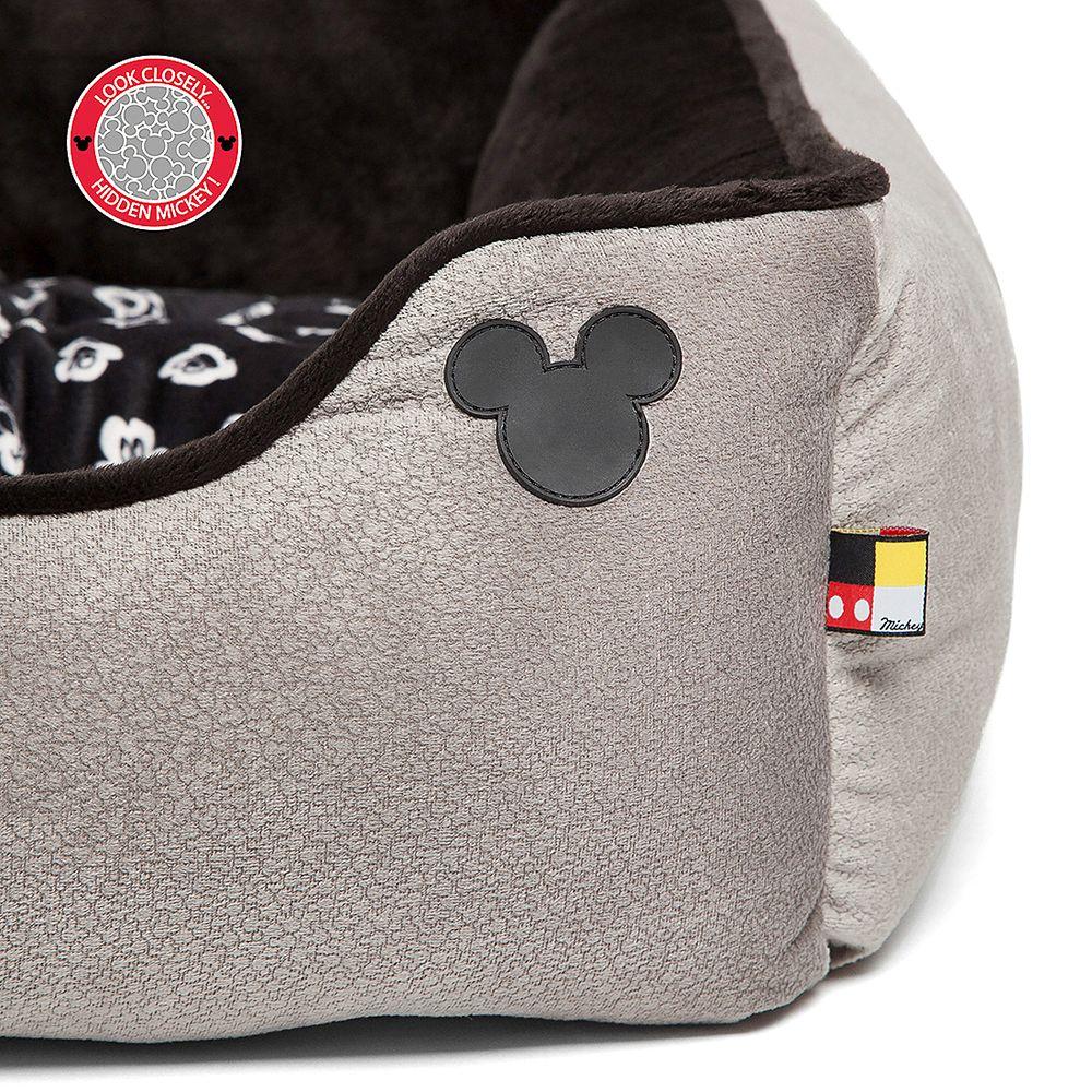 Mickey Mouse Rectangular Cuddler Pet Bed – Gray