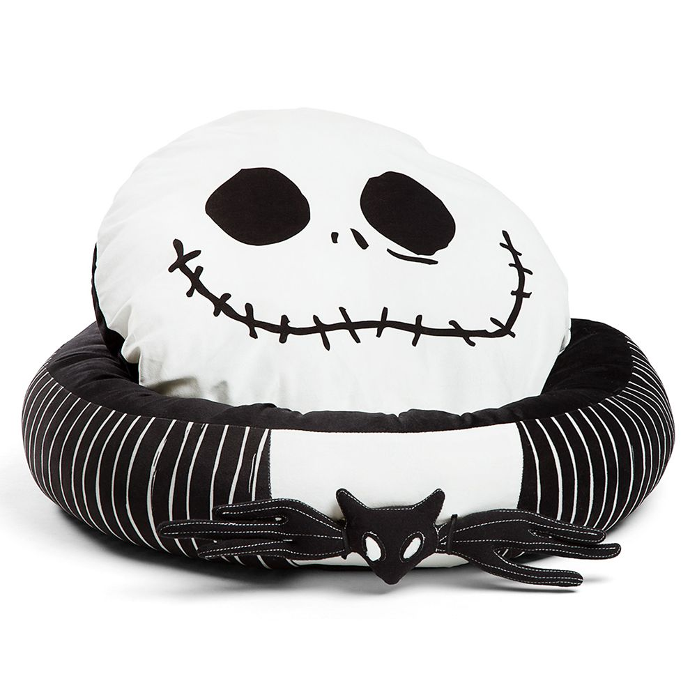 Jack Skellington Bolstered Round Bumper Pet Bed – The Nightmare Before Christmas