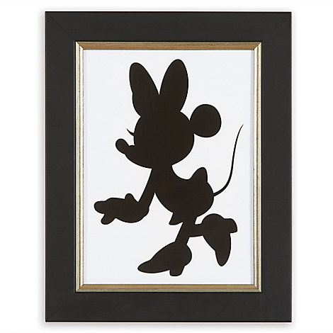 Minnie Mouse Silhouette II Framed Giclée on Archival Paper by Ethan Allen