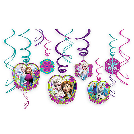 Frozen Swirl Decorations 12-Piece Set