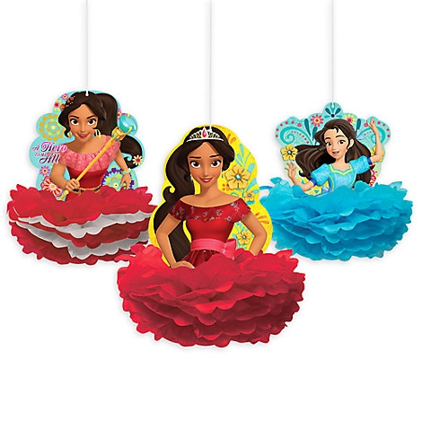 Elena of Avalor Honeycomb Decorations