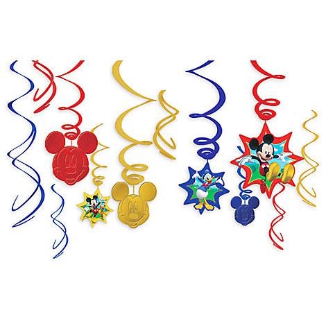 Mickey Mouse Swirl Decorations 12-Piece Set