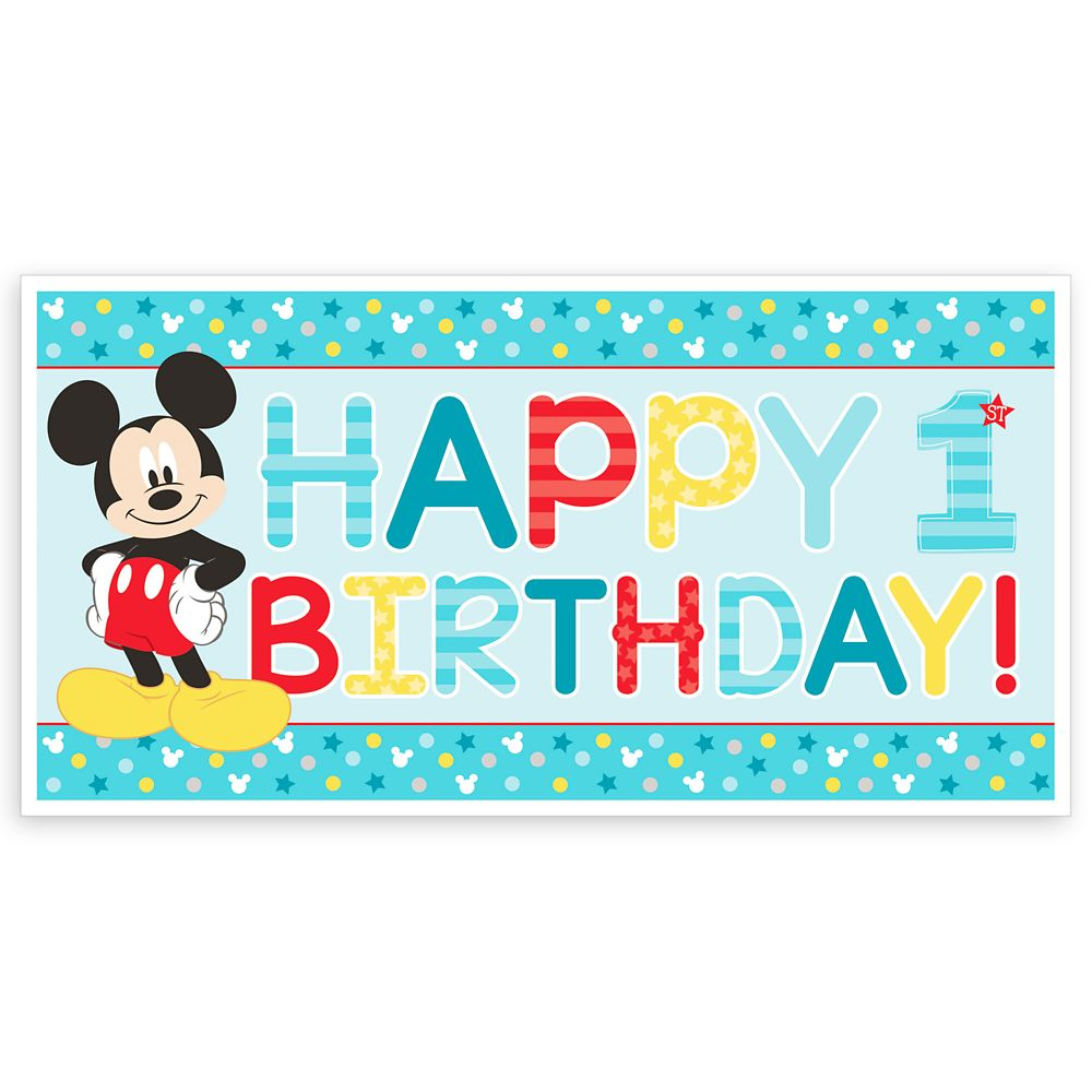 Mickey Mouse 1st Birthday Banner Official shopDisney