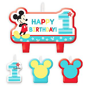 Mickey Mouse 1st Birthday Candle Set 6804057861728P