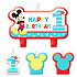 Mickey Mouse 1st Birthday Candle Set