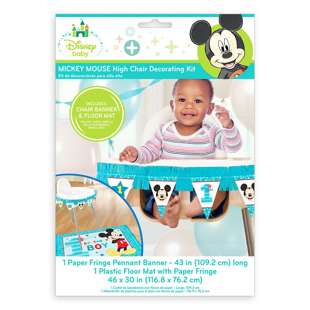 Mickey Mouse 1st Birthday High Chair Decorating Kit