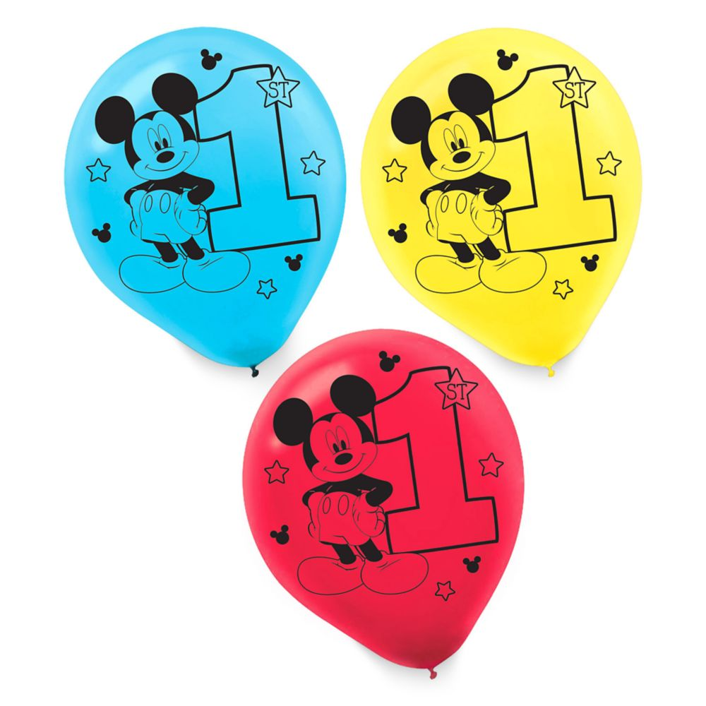 http://www.shopdisney.com - Mickey Mouse 1st Birthday Balloons Official shopDisney 11.95 USD