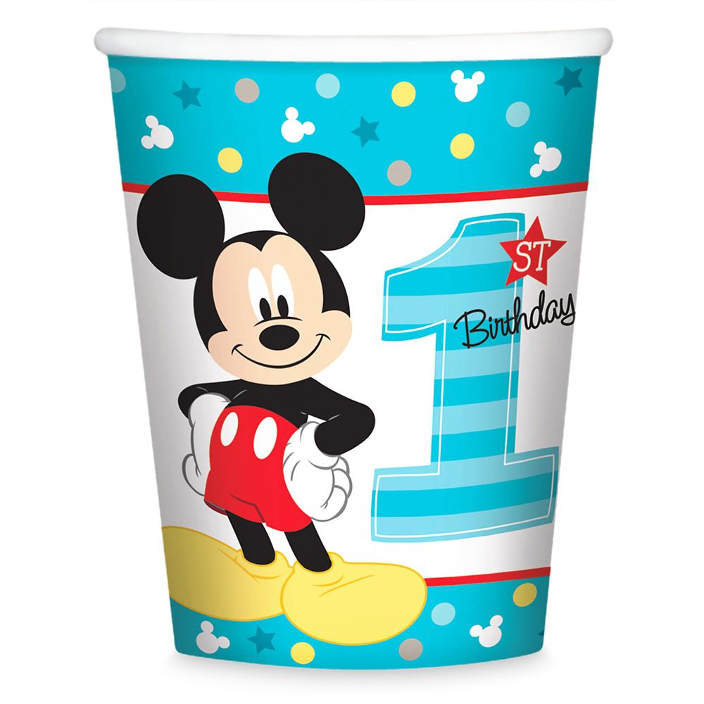 Mickey Mouse 1st Birthday Cups