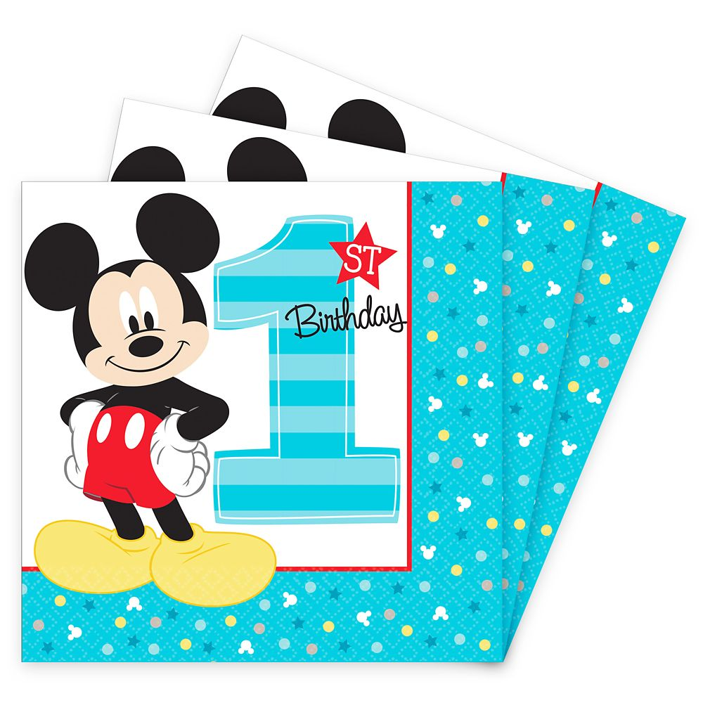 Mickey Mouse 1st Birthday Lunch Napkins