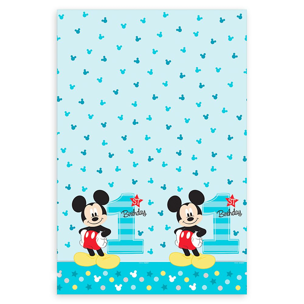 Mickey Mouse 1st Birthday Table Cover