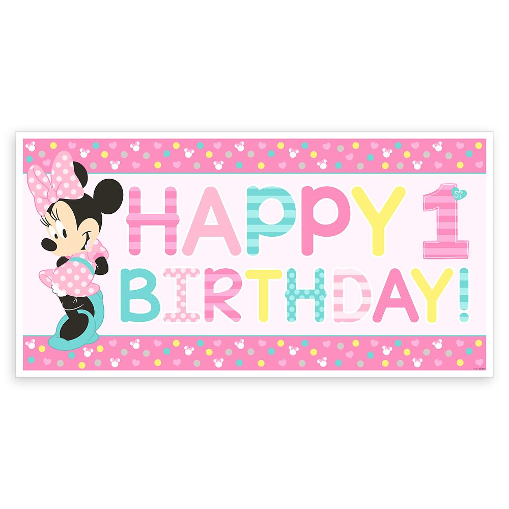 Minnie Mouse 1st Birthday Banner