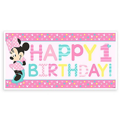 Minnie Mouse 1st Birthday Banner