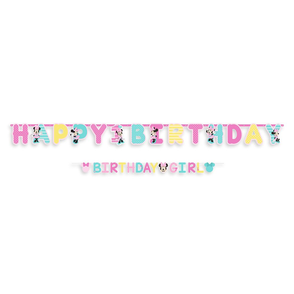 http://www.shopdisney.com - Minnie Mouse 1st Birthday Letter Banner Official shopDisney 9.95 USD
