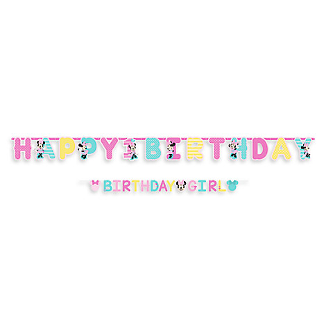 Minnie Mouse 1st Birthday Letter Banner