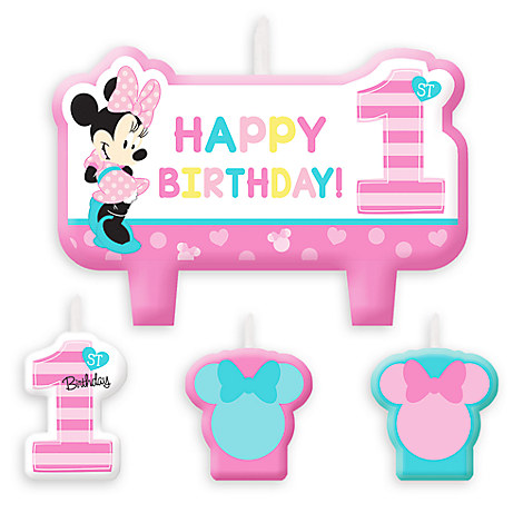 Minnie Mouse 1st Birthday Candle Set