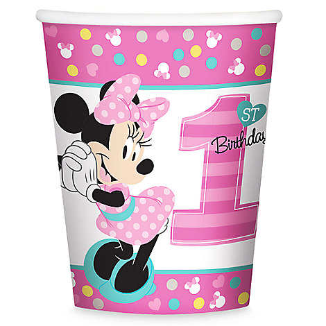 Minnie Mouse 1st Birthday Cups