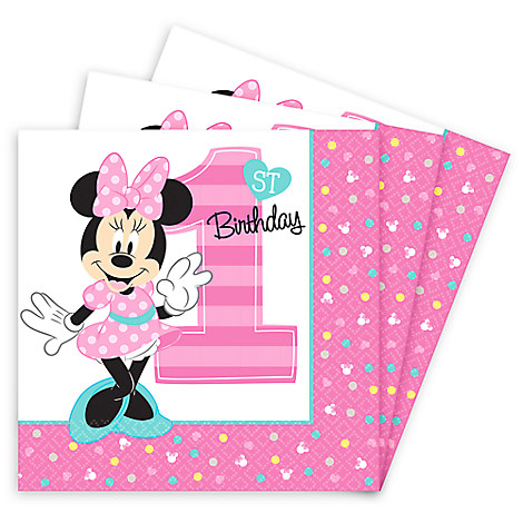 Minnie Mouse 1st Birthday Lunch Napkins